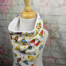 Adult dribble bib, young adult dribble catcher, floral bibs, disability bib, flo