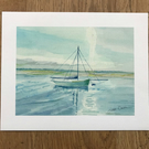 Limited Edition Gliclee Print of Watercolour Seascape