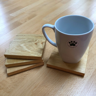 Square wooden coasters - set of 4 - idigbo