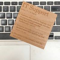 Wooden coaster - occupations - IT support