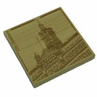 Wooden coaster - Glasgow landmarks - City Chambers
