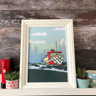 Liverpool Peter Blake Dazzle Ship Mersey Ferry Giclee Print