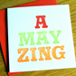 Strictly - Amazing card with fluorescent ink ZING