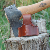 Hand stitched leather axe dropper Handaxe loop