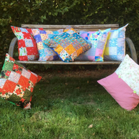 "Handmade PATCHWORK CUSHION, in the design of your choice, 16""x16"" (42cmx42cm)"