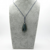 Labradorite pendant on corded necklace, throat, protective, intuition, boho, hip