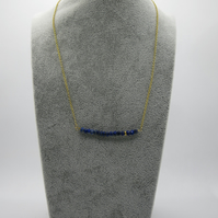 Lapis lazuli and vermeil gold necklace