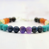 Chakra Bracelet with sterling silver clasp
