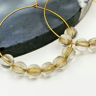 Large Gold Coloured Beaded Hoops