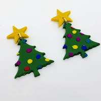 Christmas Earrings Polymer Clay Earrings Statement Earrings Novelty Earrings