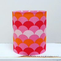 Handmade Little Lantern or night light featuring a pink and orange geo design