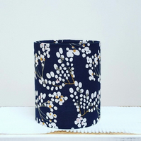 Handmade Little Lantern or night light featuring Japanese blossom on navy