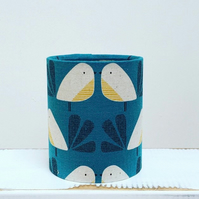 Handmade Little Lantern or night light featuring a little bird in teal