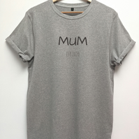Mum est organic t shirt in a unisex fit, Loungewear