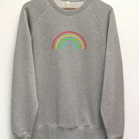 Rainbow organic sweatshirt in a unisex fit, Loungewear