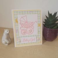 A baby shower or birth card