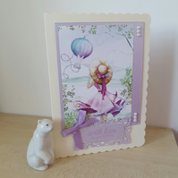 A blustery summers day birthday card