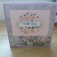 A floral greetings card
