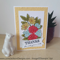 A floral thank you card