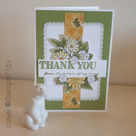 Stampin Up! floral thank you card