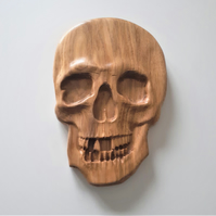 Beautifully carved Skull in recycled English Oak
