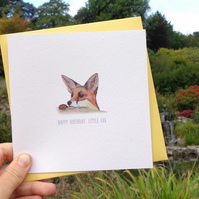 Happy Birthday, Little Fox Greetings Card - Free UK Postage!