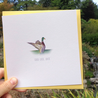 Good Luck Duck Greetings Card - Free UK Postage!