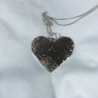 Handcrafted  Sterling Silver heart shaped pendant