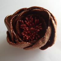 Leather flower brooch, flower brooch, flower jewellery,leather flower, leather j