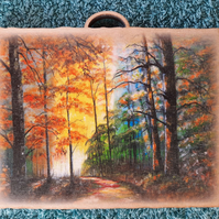 Highland Forest Mini Wooden Wall Plaque.
