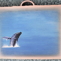 "Whale Mini Wooden Wall Plaque ""Out of the Blue"""