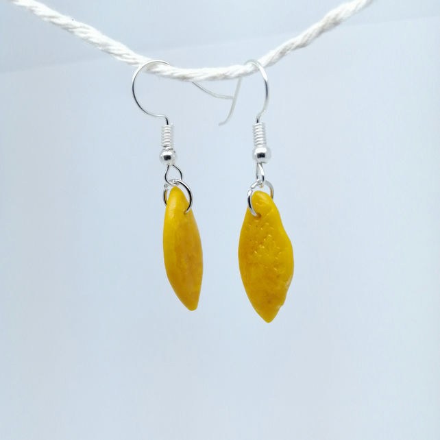 Lemon earrings handmade