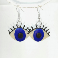 Eyeball handmade earrings