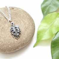 Monstera leaf necklace, plant lover gifts, leaf jewellery