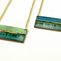 Landscape Bar Enamel necklace