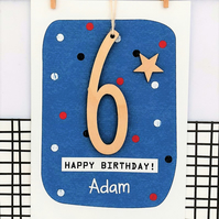 Personalised Birthday Card - Keepsake Card, Age 5, 6, 7, 8 ,9 Custom Card, Kids
