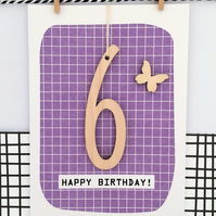 Age 6 Keepsake Birthday Card