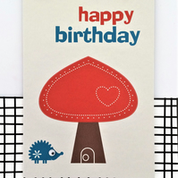 Hedgehog Card - Birthday Card - Happy Birthday - Cute Card - Fun Card