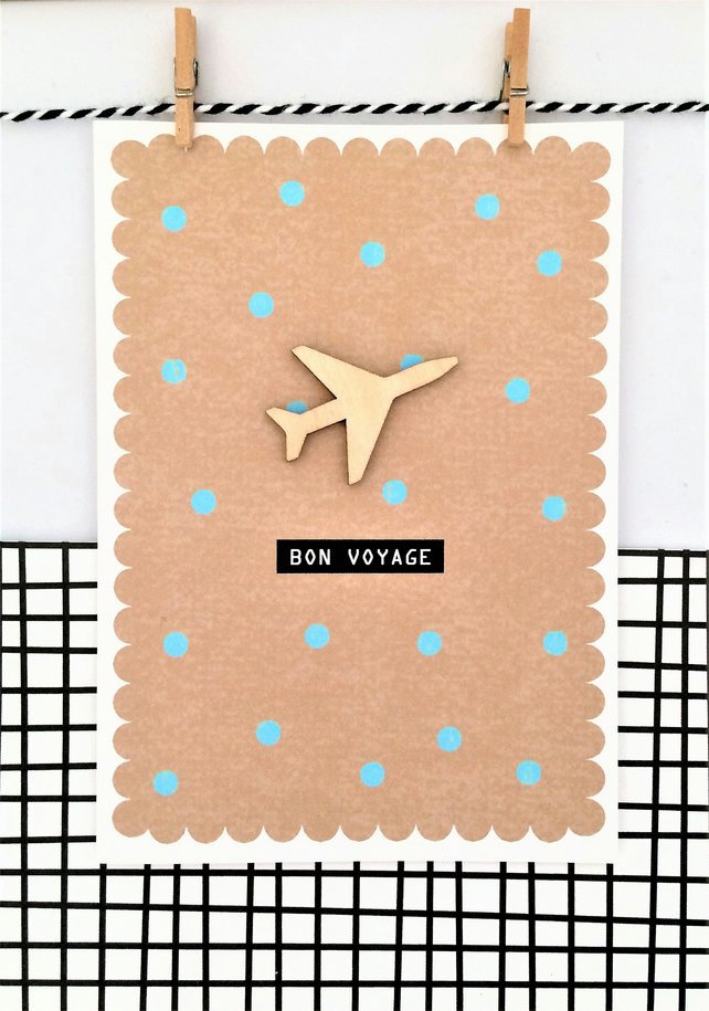 Bon Voyage Card - Handmade Card - You're Leaving Card