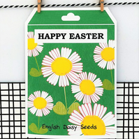 Daisy Seed Easter Card - Daisy Seeds - Happy Easter - Greetings Card