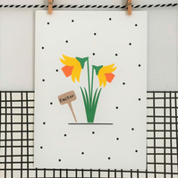 Easter Card - Wildflower Seed Card - Handmade Card - Floral Card