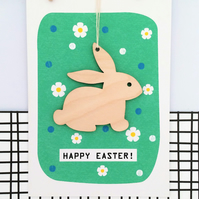Easter Bunny Card - Handmade Keepsake Card, Luxury Card, Easter Card, Bunny Card