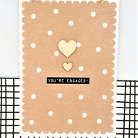 Engagement Card - Handmade Card - You're Engaged