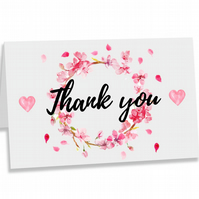 Crafty Graphics White A5 Thank You Appreciation Greeting Card