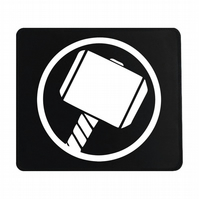 Crafty Graphics Thor Inspired Small Black Mouse Mat - 200mm x 240mm