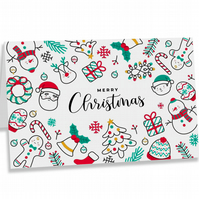 Crafty Graphics White A5 Christmas Collection Festive Greeting Card