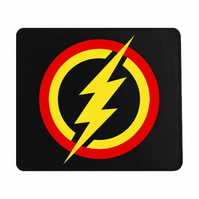 Crafty Graphics Flash Inspired Small Black Mouse Mat - 200mm x 240mm