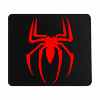 Crafty Graphics Spiderman Inspired Small Black Mouse Mat - 200mm x 240mm