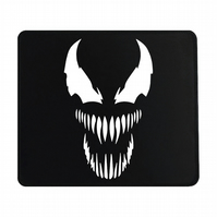 Crafty Graphics Venom Inspired Small Black Mouse Mat - 200mm x 240mm