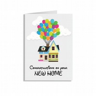 Crafty Graphics White A5 UP Congratulations On Your New Home Greeting Card